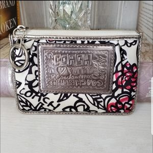 COACH Poppy Collection: Floral Graffiti Pouch